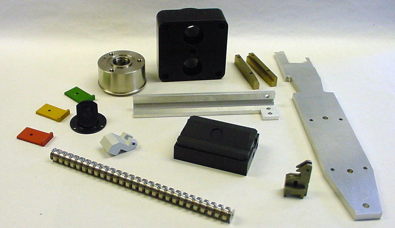 A sampling of precision machine parts